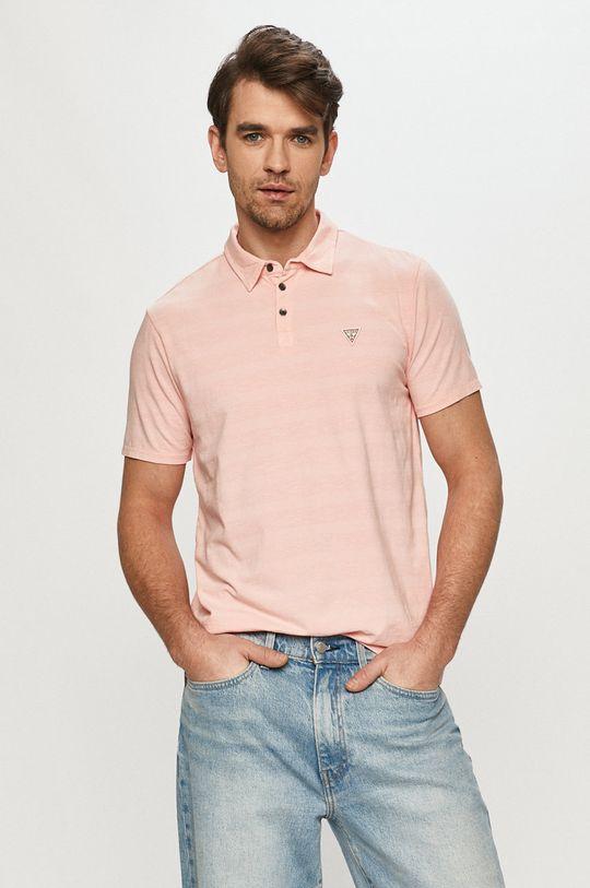 růžová Guess - Polo tričko Pánský