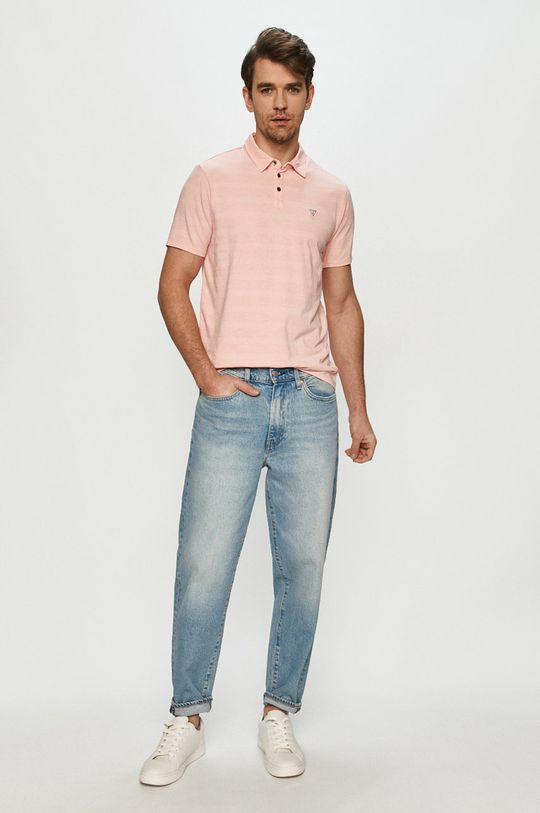 Guess - Polo tričko růžová
