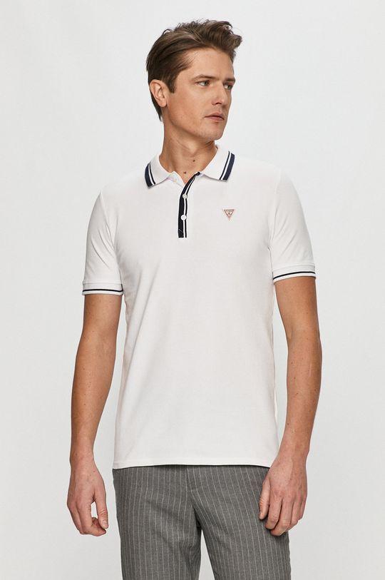 bílá Guess - Polo tričko Pánský