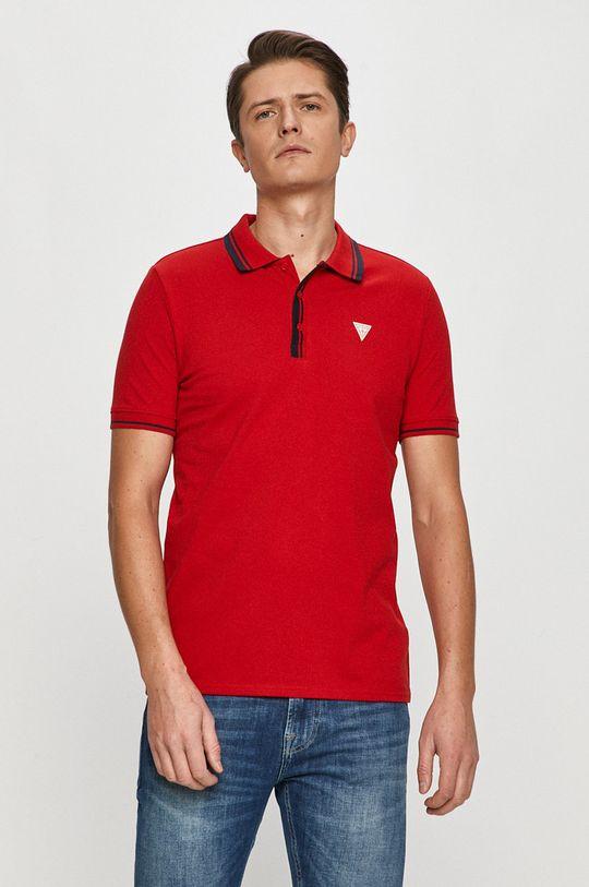 czerwony Guess - Polo Męski