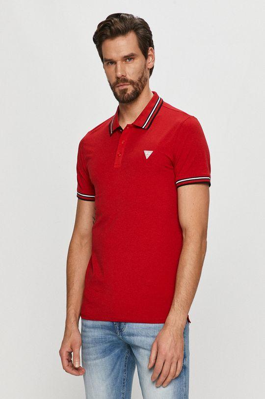 czerwony Guess - Polo