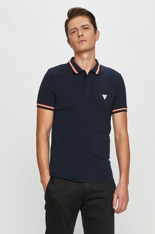 námořnická modř Guess - Polo tričko Pánský