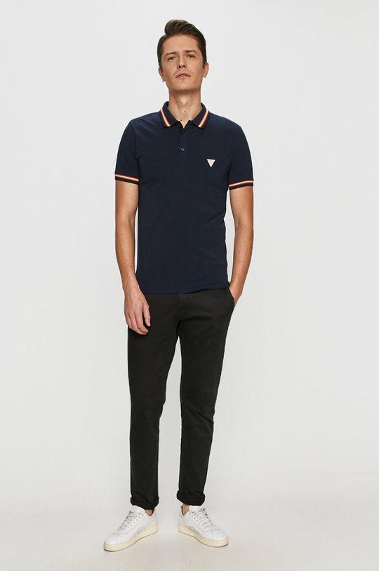 Guess - Polo tričko námořnická modř