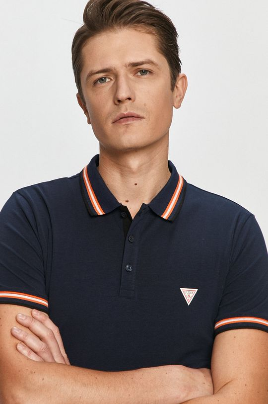 námořnická modř Guess - Polo tričko