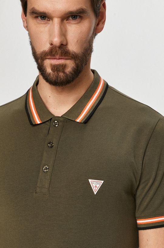 olivová Guess - Polo tričko