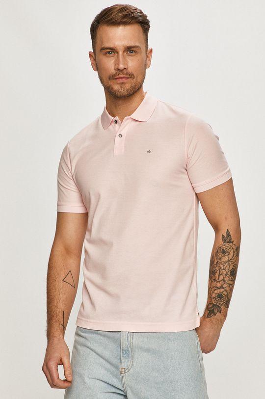 ružová Calvin Klein - Polo tričko