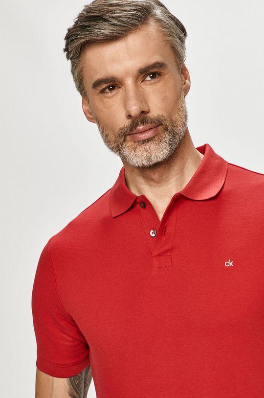červená Calvin Klein - Polo tričko Pánsky