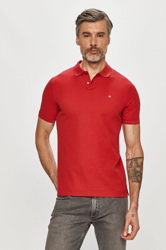 červená Calvin Klein - Polo tričko