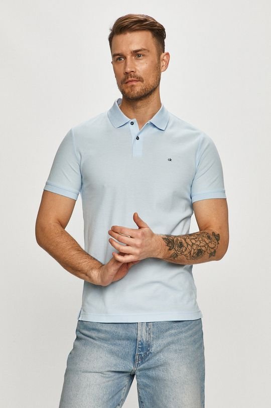 svetlomodrá Calvin Klein - Polo tričko Pánsky