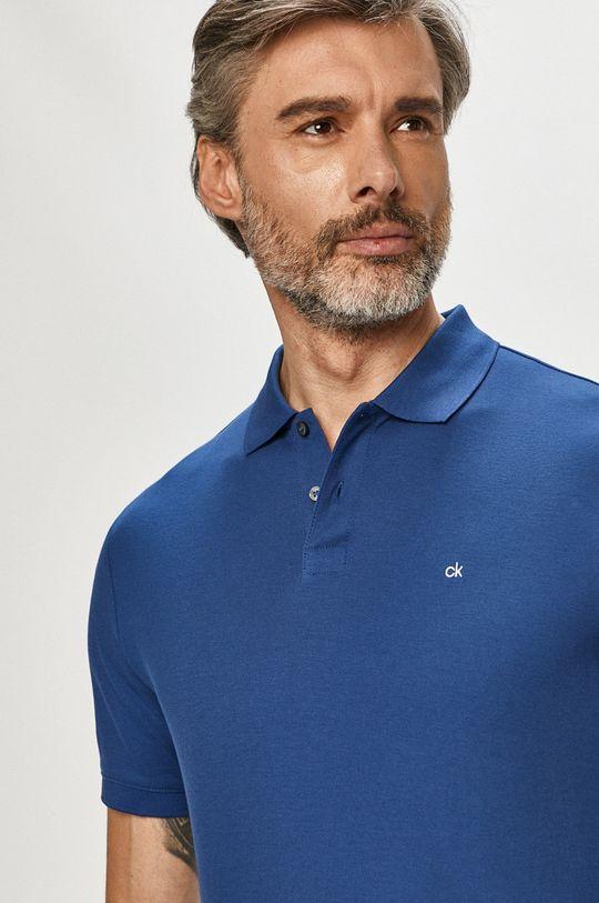 tmavomodrá Calvin Klein - Polo tričko Pánsky