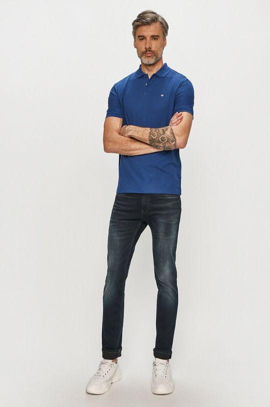 Calvin Klein - Polo tričko tmavomodrá