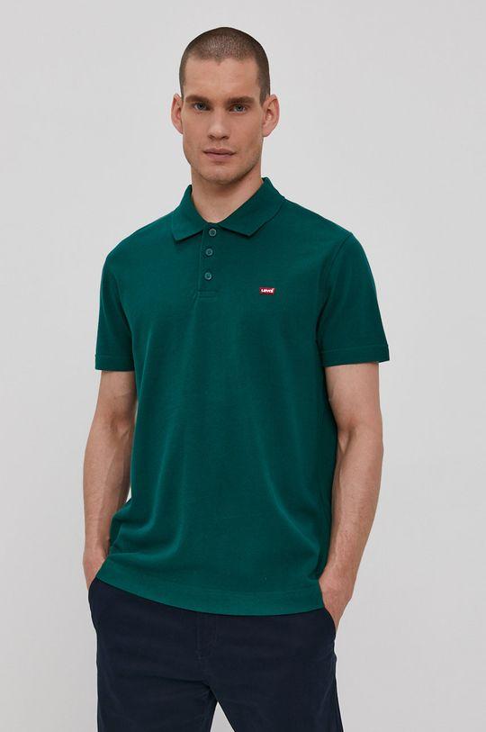 zelená Levi's - Polo tričko Pánsky