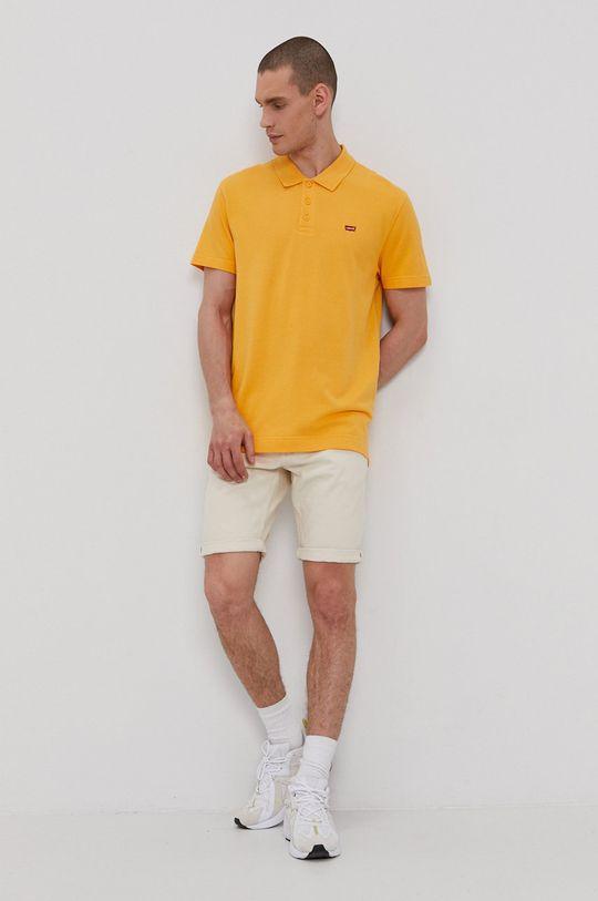 Levi's - Polo tričko oranžová