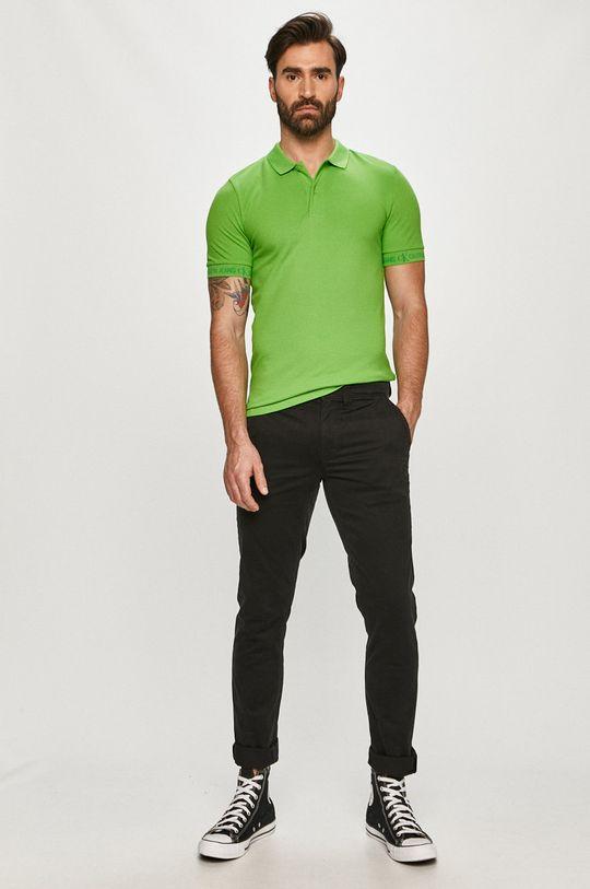 Calvin Klein Jeans - Polo tričko zelená