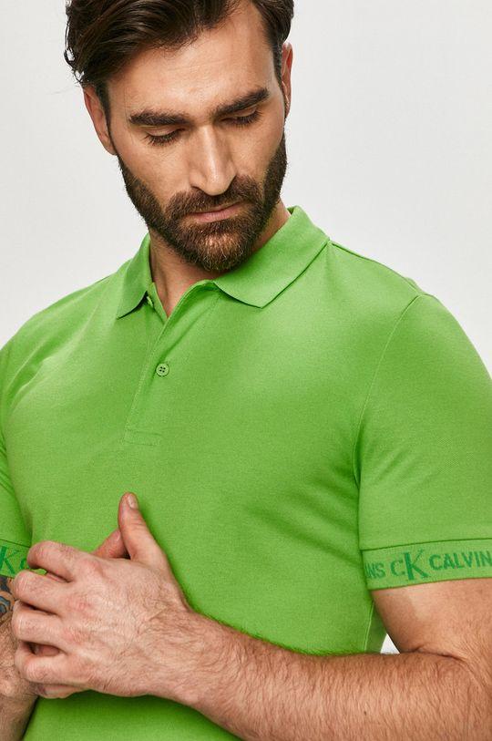zelená Calvin Klein Jeans - Polo tričko