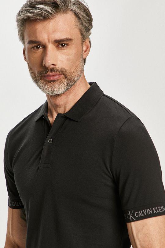 čierna Calvin Klein Jeans - Polo tričko Pánsky