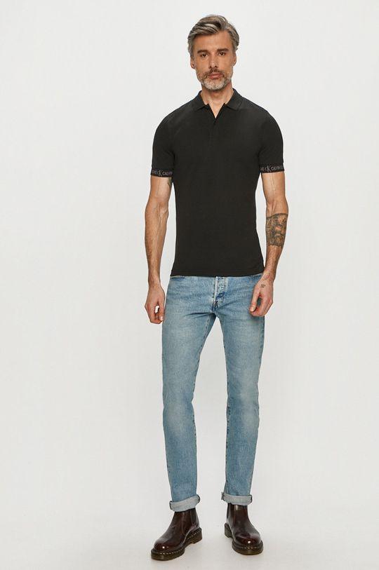 Calvin Klein Jeans - Polo tričko čierna