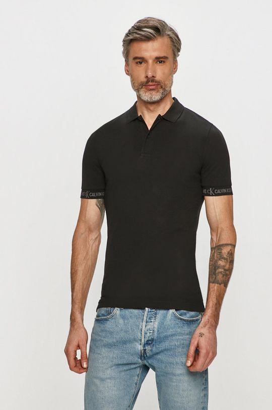 čierna Calvin Klein Jeans - Polo tričko