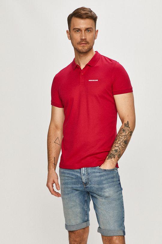 růžová Calvin Klein Jeans - Polo tričko