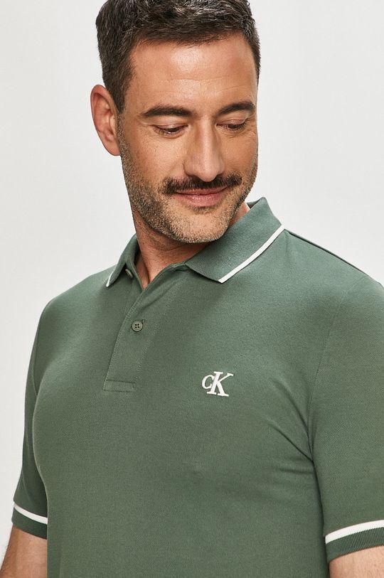 brudny zielony Calvin Klein Jeans - Polo