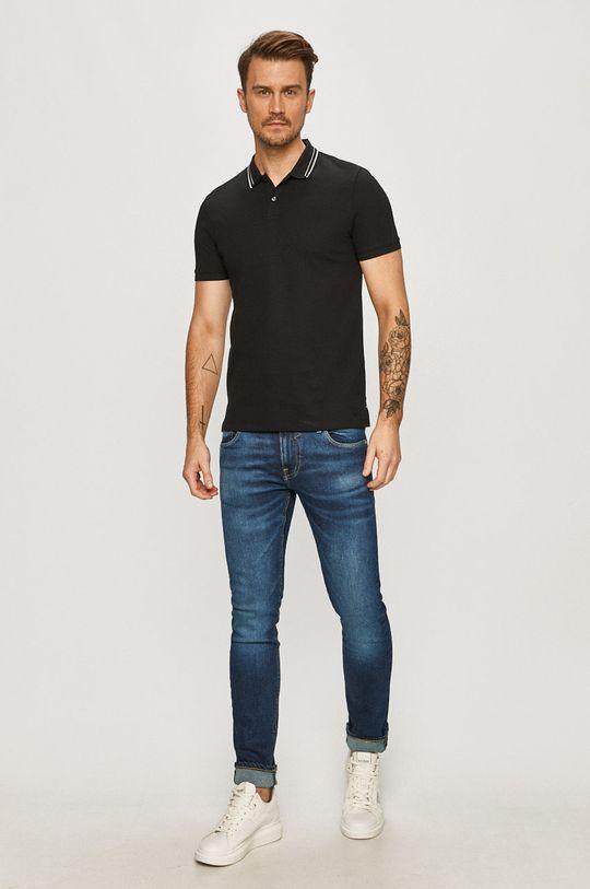 Hugo - Polo tričko černá