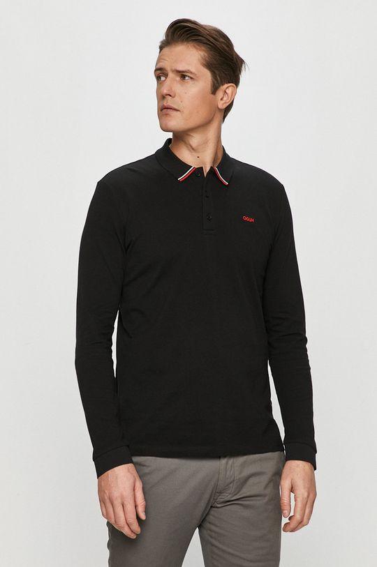 černá Hugo - Tričko s dlouhým rukávem Pánský