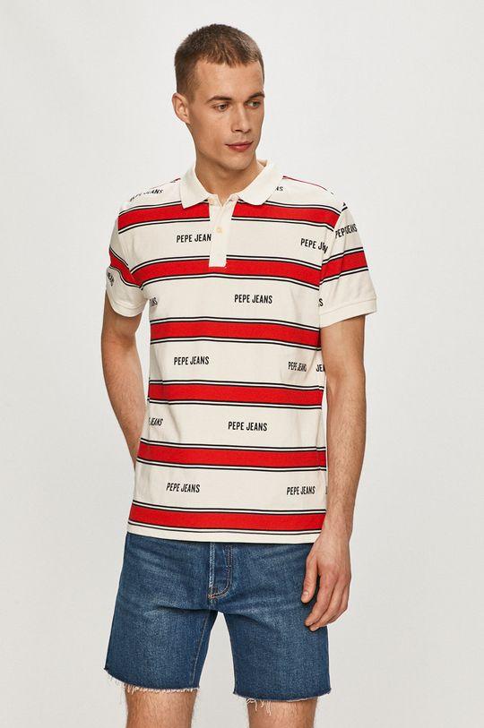 biela Pepe Jeans - Polo tričko Bart Pánsky