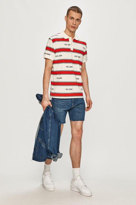 Pepe Jeans - Polo tričko Bart biela