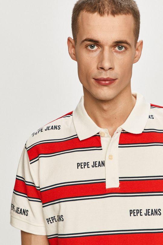 biela Pepe Jeans - Polo tričko Bart