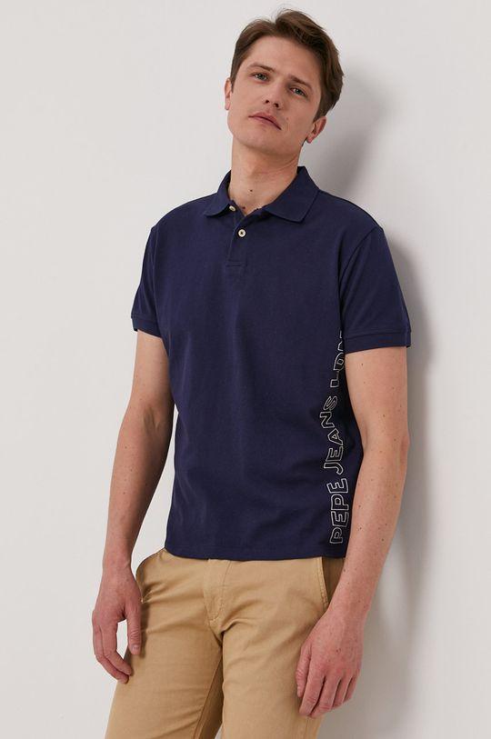 tmavomodrá Pepe Jeans - Polo tričko Benson Pánsky
