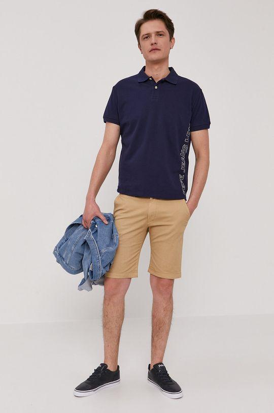 Pepe Jeans - Polo tričko Benson tmavomodrá