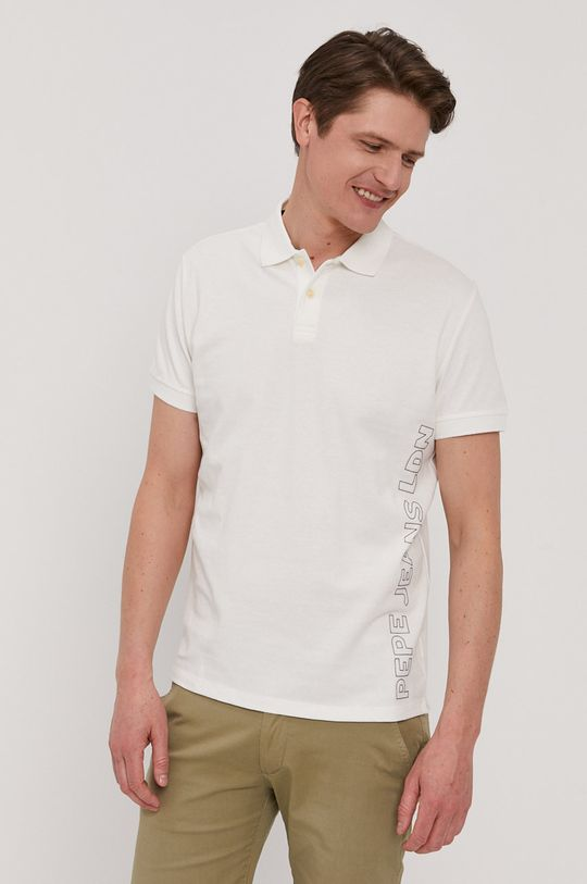 biela Pepe Jeans - Polo tričko Benson Pánsky