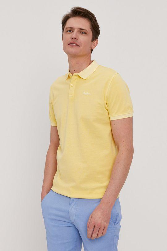 žltá Pepe Jeans - Polo tričko Vincent