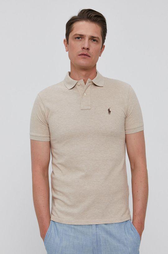 písková Polo Ralph Lauren - Polo tričko Pánský