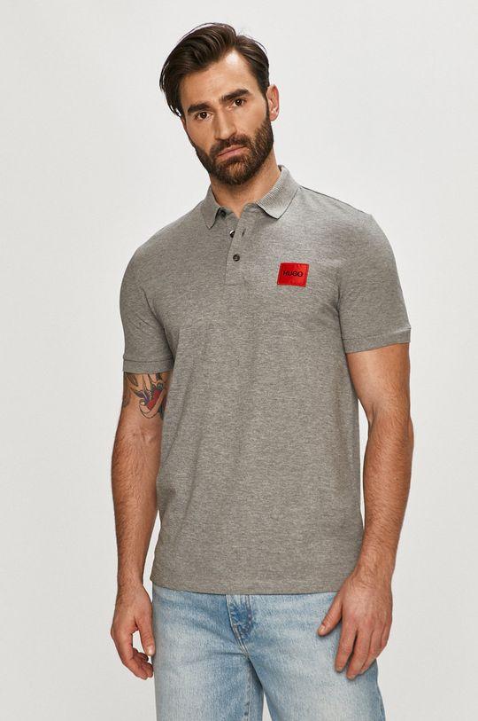 světle šedá Hugo - Polo tričko Pánský