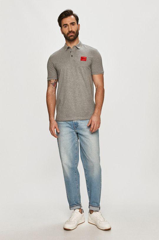Hugo - Polo tričko světle šedá
