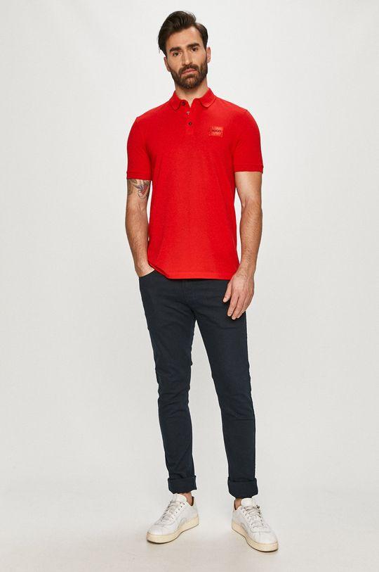 Hugo - Polo tričko červená