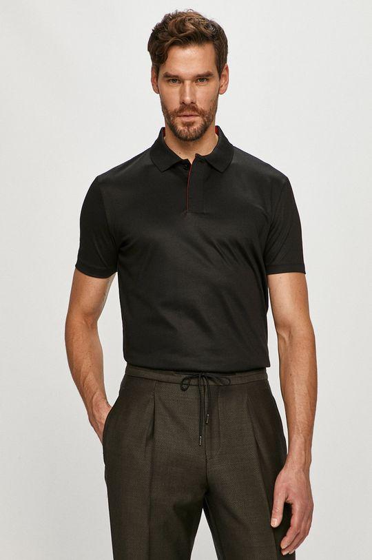 negru Hugo - Tricou Polo De bărbați