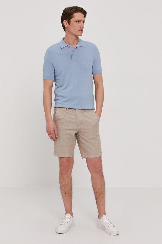 Hugo - Polo jasny niebieski