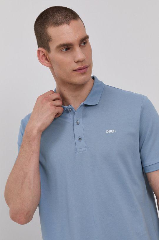 svetlomodrá Hugo - Polo tričko Pánsky
