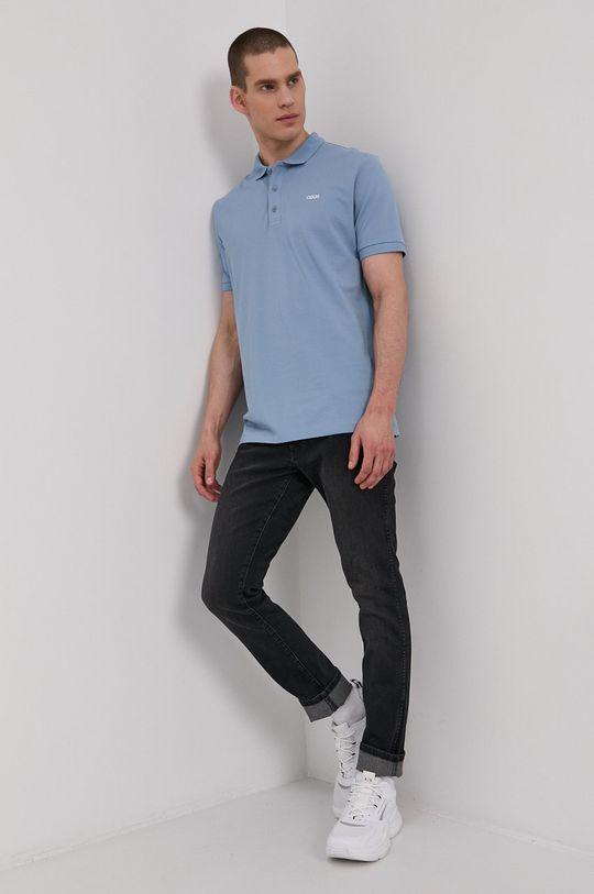 Hugo - Polo tričko svetlomodrá
