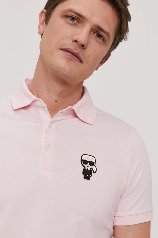 różowy Karl Lagerfeld - Polo Męski