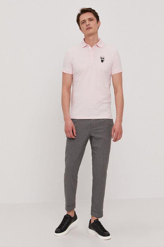Karl Lagerfeld - Polo różowy