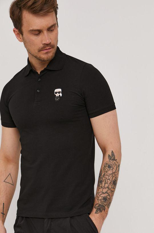 černá Karl Lagerfeld - Polo tričko Pánský