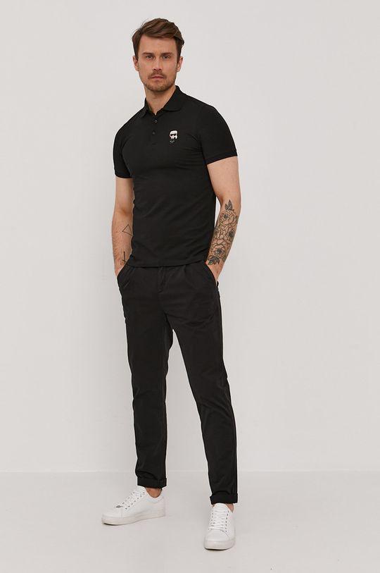 Karl Lagerfeld - Polo tričko černá