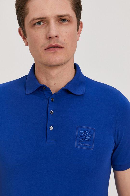 modrá Karl Lagerfeld - Polo tričko Pánsky