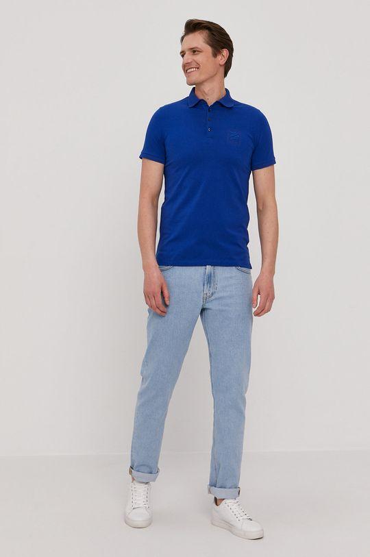 Karl Lagerfeld - Polo tričko modrá