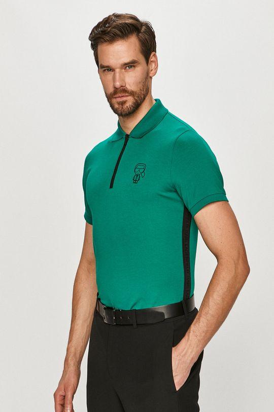 zelená Karl Lagerfeld - Polo tričko Pánsky