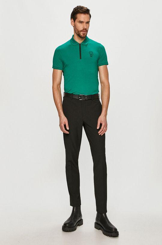 Karl Lagerfeld - Polo tričko zelená
