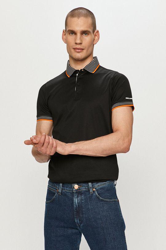 negru Karl Lagerfeld - Tricou Polo De bărbați